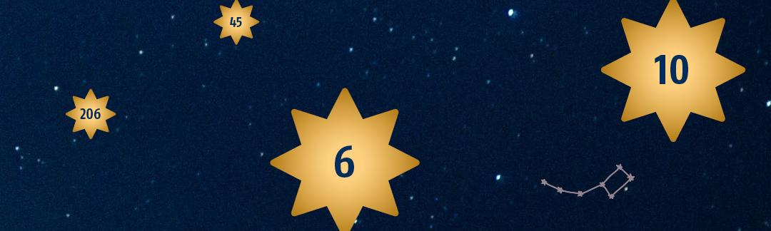 Um Menschen in Bethel Freude zu schenken, können die Wunschsterne vom digitalen Sternenhimmel – gestaltet von DeteringDesign – gepflückt werden.