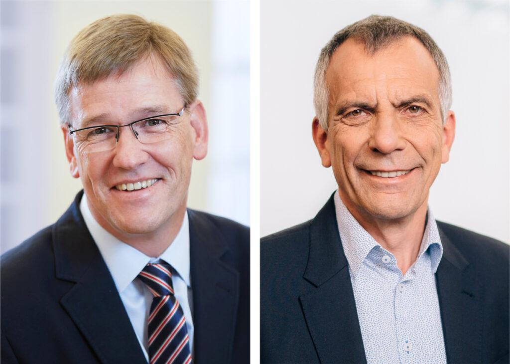 Prof. Dr. Johannes Wessels und Prof. Dr.-Ing. Gerhard Sagerer