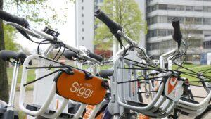 Siggi Bikes auf dem Campus