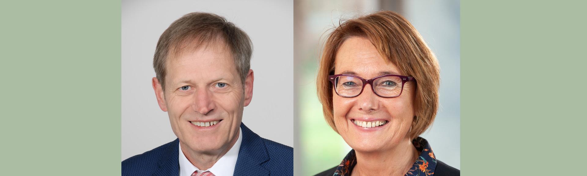 Prorektor Decker und Prorektorin Lütje-Klose im Doppelportrait