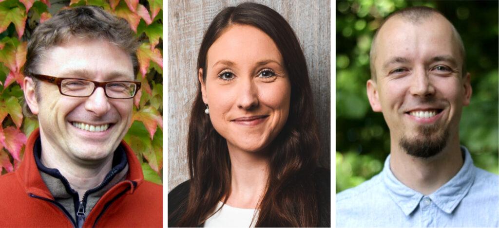 Bilder der Personen: Professor Dr. Matthias Wilde, Dr. Nadine Großmann und Dr. Alexander Eckes